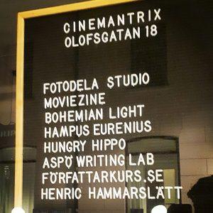 På Cinemantrix alldeles vid Hötorget kan du gå en författarkurs där du höjer ditt personbästa och utvecklar ditt skrivande.